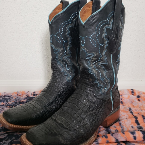 0f7292cff3a Resistol Ranch by Lucchese Black Caiman Boots